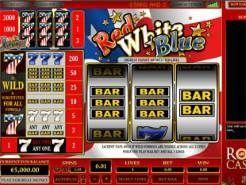 Red White Blue 3 Lines Slots